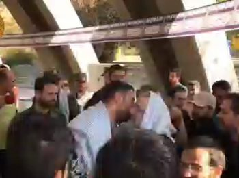 حضور آیت الله رئیسی در مقبرة الشهداء کلکچال