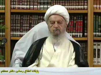 ماجرای امضای آیت الله مکارم شیرازی بر کفن شهید سپهبد حاج قاسم سلیمانی