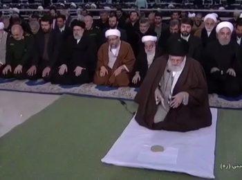 اقدام عجیب روحانی هنگام نماز جمعه رهبر انقلاب