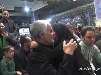 لحظاتی تکاندهنده از بیتابیهای دختر شهید مدافع حرم در آغوش سپهبد سلیمانی