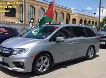 راهپیمایی ماشینی روز قدس در شهر هیوستون آمریکا