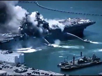 علت واقعی آتش سوزی ناو پیشرفته آمریکایی چیست؟!