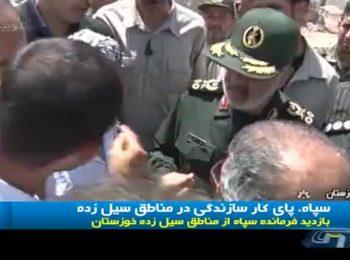 سپاه ، پای کار سازندگی در مناطق سیل زده