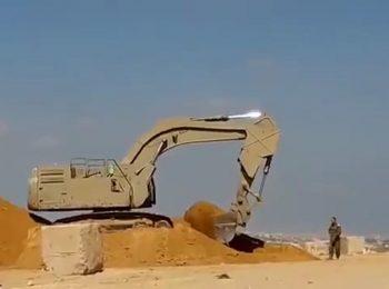 ایجاد موانع شنی در مرز غزه از بیم عملیات مقاومت